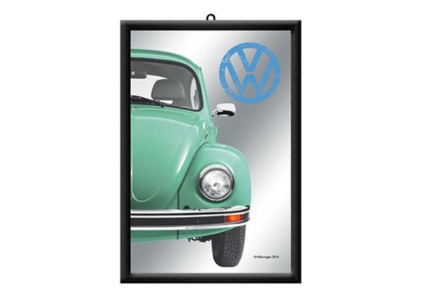 Retro reklaampeegel VW Beetle roheline SG-195458