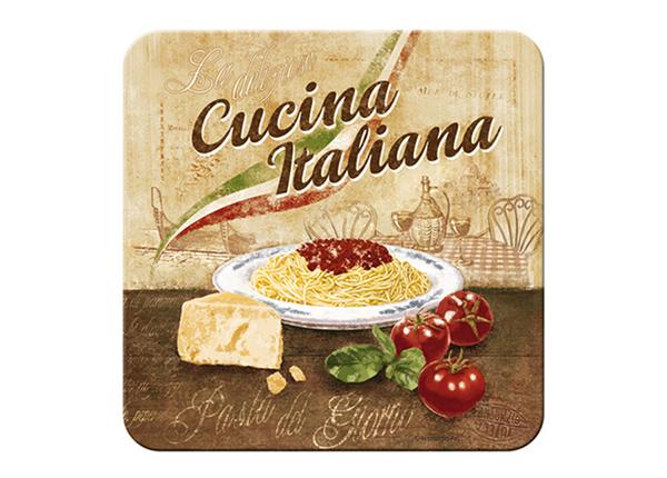 Подставка под стакан в ретро-стиле Cucina Italiana 4 шт
