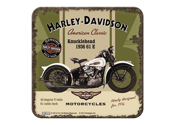 Подставка под стакан в ретро-стиле Harley-Davidson Knucklehead 4 шт
