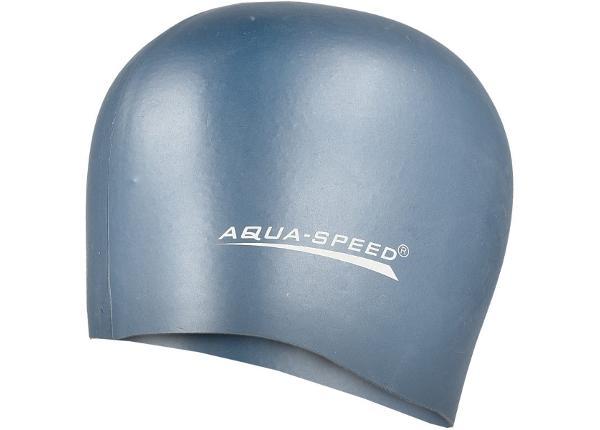 Täiskasvanute ujumismütsAqua-Speed silikoon Mega 22 tumehall