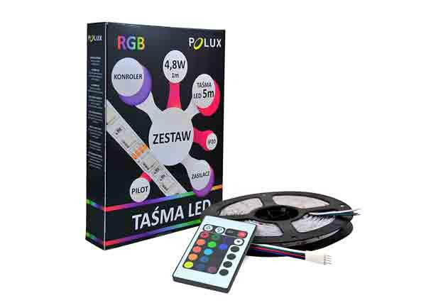 LED valoketju 5 m RGB 24 W + kaukosäädin