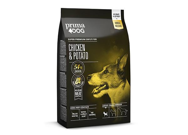 PrimaDog täysravinto pienille aikuisille koirille kana-peruna 4 kg