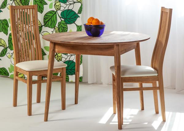 Tammepuust söögilaud Scan Ø85 cm+ 2 tooli Sandra