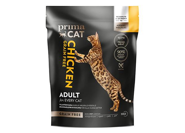PrimaCat kuivaruoka GrainFree kananlihalla aikuisille kissoille 1,4 kg