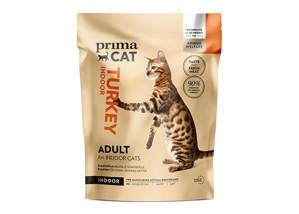PrimaCat kuivaravinto kalkkunalla aikuisille sisäkissoille 1,4 kg