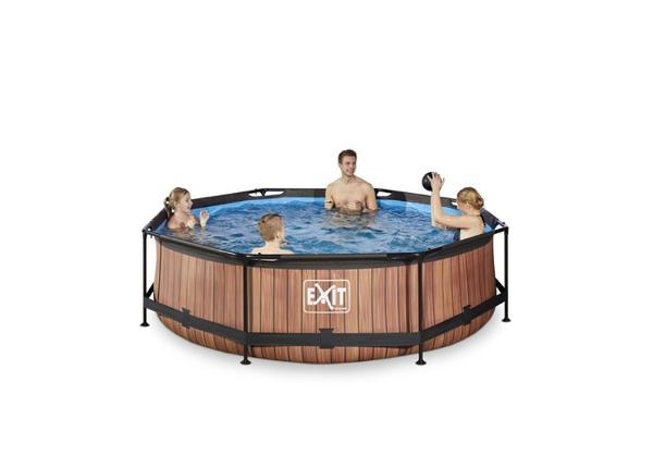 Uima-allas 300x76 cm suodatinpumpulla EXIT Wood