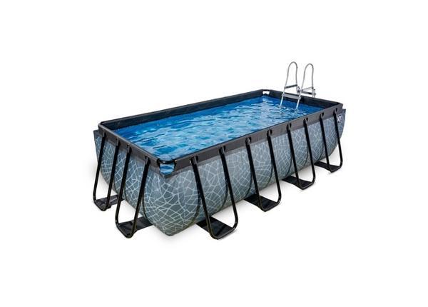 Uima-allas 400x200 cm suodatinpumpulla EXIT Stone