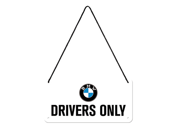 Retro metallposter BMW - Drivers Only 10x20 cm