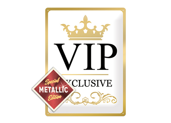Retro metallposter VIP Exclusive Metallic 30x40 cm SG-196814