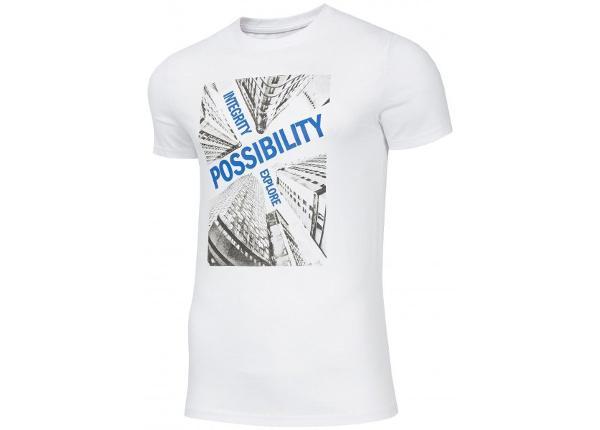 Miesten t-paita 4F M H4Z19-TSM005 10S valkoinen