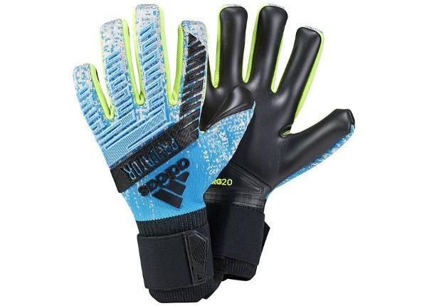 Miesten maalivahdin hanskat Adidas Predator PRO M DY2595 siniset