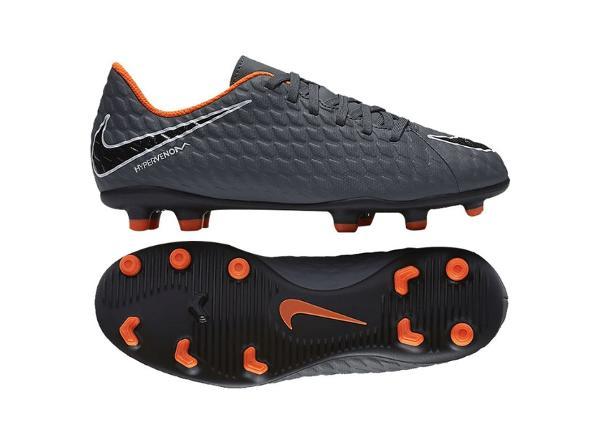 Детские футбольные бутсы Nike Hypervenom Phantom III Club FG JR AH7290-081 серого цвета