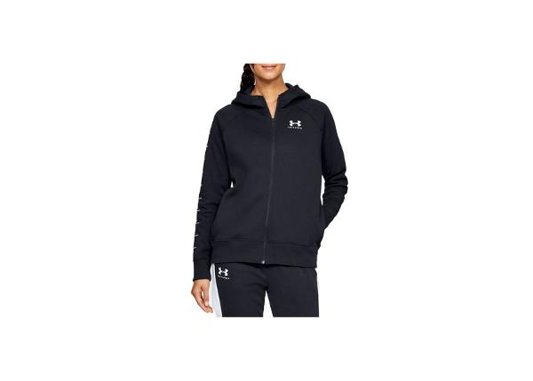 Naisten verryttelytakki Under Armour Rival Fleece Sportstyle LC Sleeve Graphic Full Zip W 1348559-001