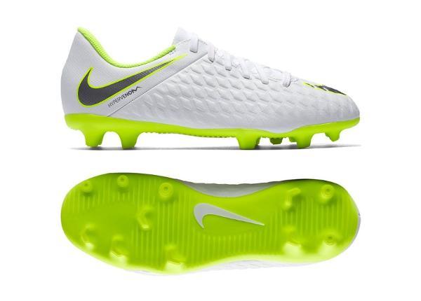 Jalgpallijalatsid lastele Nike Hypervenom Phantom 3Club FG Jr AJ4146-107 valge