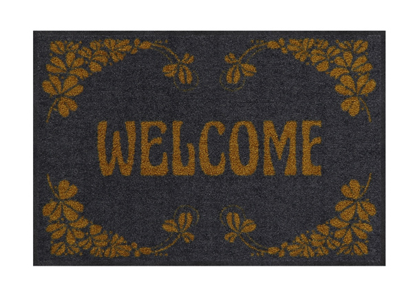 Ovimatto Welcome Art Deco gold 50x75 cm A5-200865