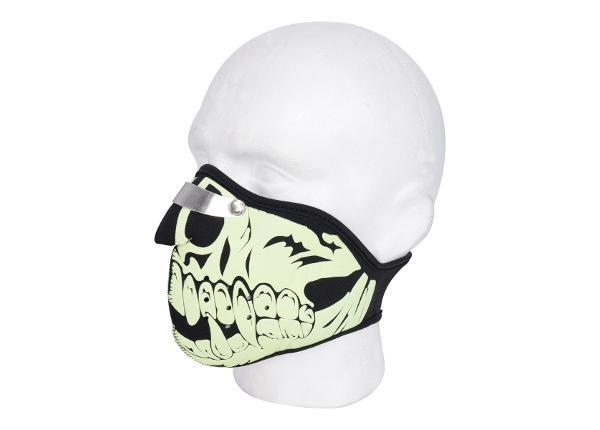 Mootorratturi näomask Oxford Glow Skull
