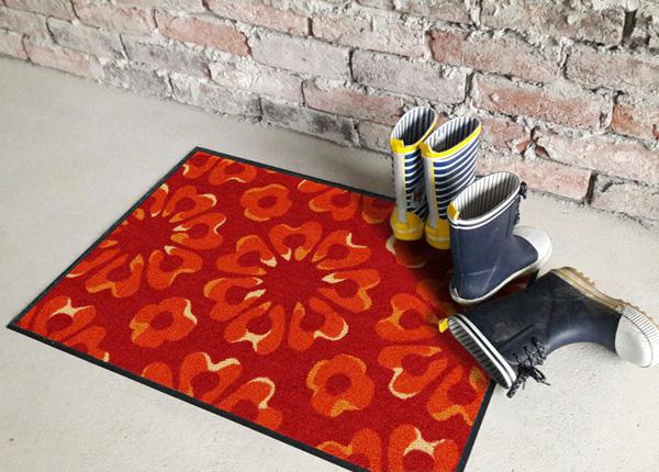 Дверной коврик Block Print ruby 50x75 см