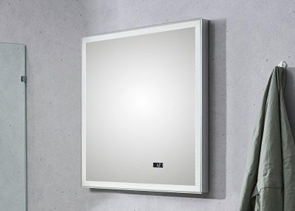 LED valgustuse ja kellaga peegel Balu CD-203442
