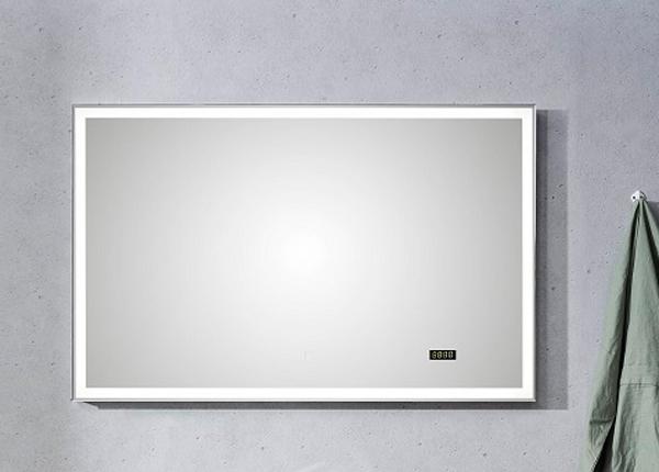 LED valgustuse ja kellaga peegel Balu CD-203445