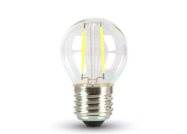 Hõõgniidiga LED pirn E27 2 W 3 tk