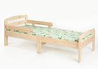 Удлиняющаяся детская кровать Kiku, без обработки