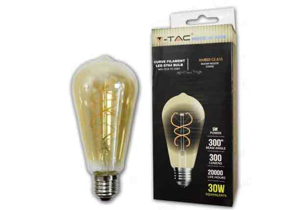 LED lamppu hehkulangalla E27 5 W RT-203895