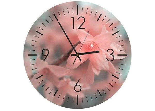 Настенные часы с изображением Pink time
