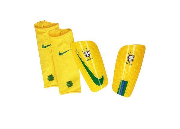 Miesten jalkapallo säärisuojat Nike Brasil CBF Mercurial Lite M SP2123-750