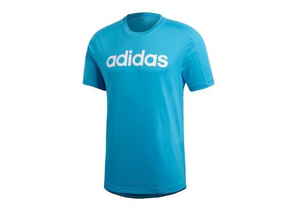 Miesten treenipaita adidas D2M Climacool Logo Tee T-shirt M DT3043