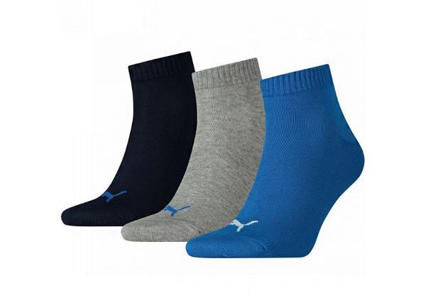 Vapaa-ajan sukat Puma Unisex Quarter Plain 3 pakkaus