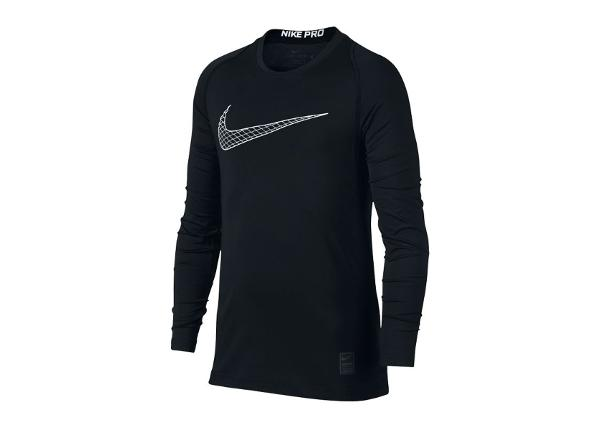 Lasten treenipaita Nike Pro Fitted LS Shirt Junior 858230-011