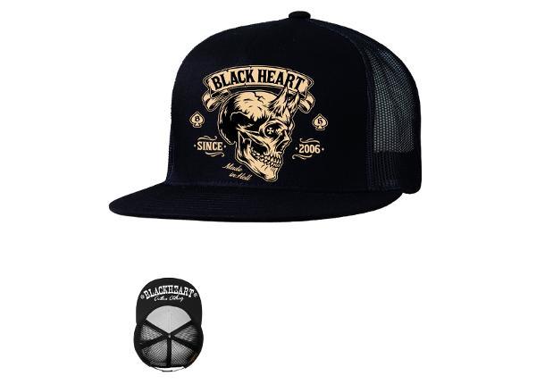 Aikuisten lippalakki BLACK HEART Devil Skull Trucker