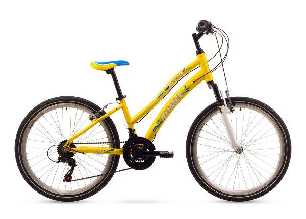 Городской велосипед для девочек 3 S ROMET BASIA 24 желтый