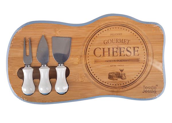 Lõikelaud ja juustunoad Gourmet 38x22 cm