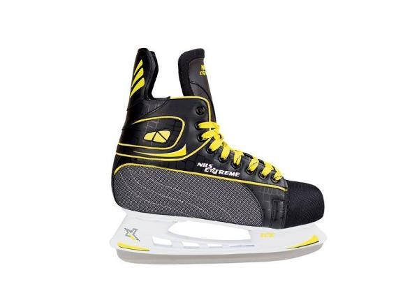 Детские хоккейные коньки Nils Extreme must kollane 38 NH8556