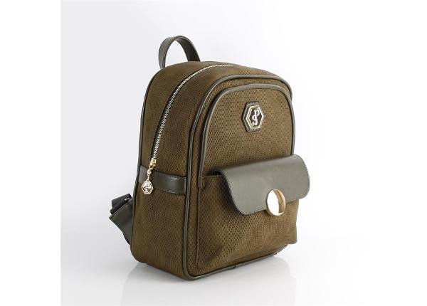Женский рюкзак с клапаном и карманом Silver&Polo