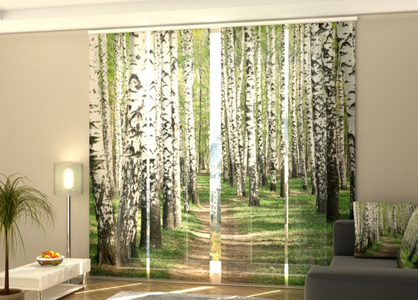 Pimentävä paneeliverho Birch forest 240x240 cm ED-218074