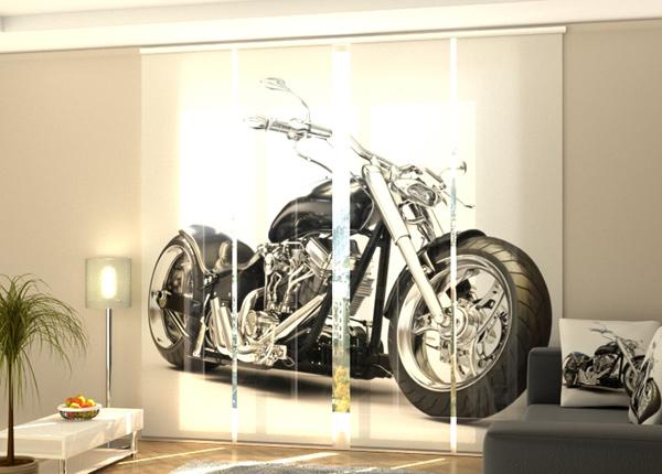 Puolipimentävä paneeliverhoBlack motorbike 240x240 cm