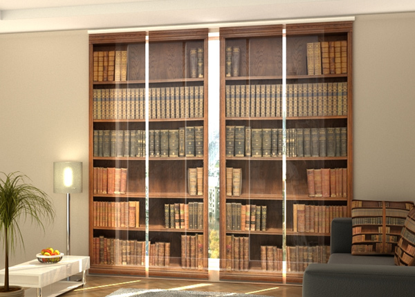 Pimentävä paneeliverho Bookcase 1 240x240 cmcm ED-218082