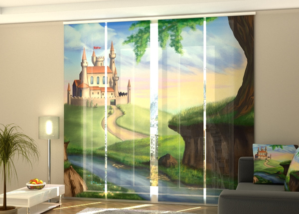 Puolipimentävä paneeliverho Castle for a Princess 1 240x240 cm ED-218083