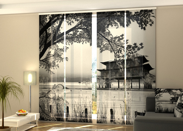 Pimentävä paneeliverho Chinese landscape 1 240x240 cm ED-218086