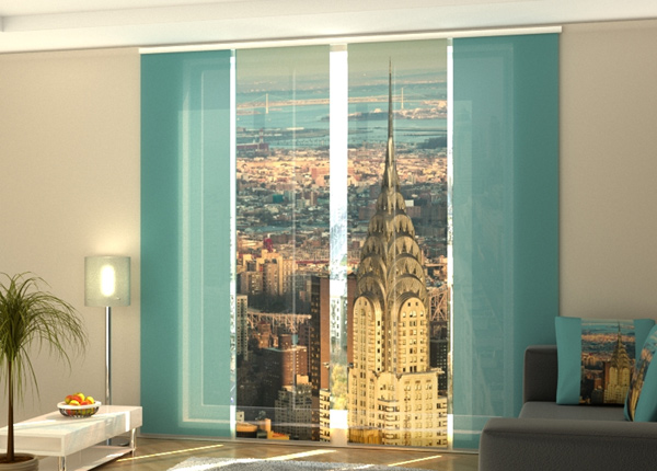 Pimentävä paneeliverho Chrysler Building 1 240x240 cm ED-218088
