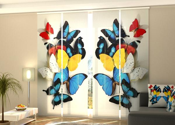 Puolipimentävä paneeliverho Colorful butterflies 1 240x240 cm