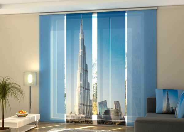 Puolipimentävä paneeliverho Dubai skyscraper 240x240 cm