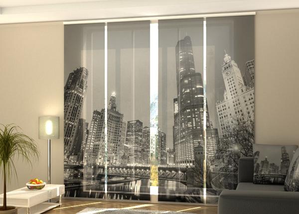 Puolipimentävä paneeliverho Grey city 240x240 cm