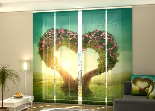 Puolipimentävä paneeliverho Heart tree 240x240 cm