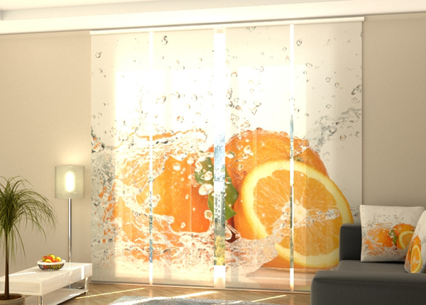 Poolpimendav paneelkardin Juicy orange, 240x240 cm