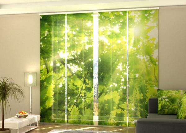 Puolipimentävä paneeliverho Leaves 2 240x240 cm