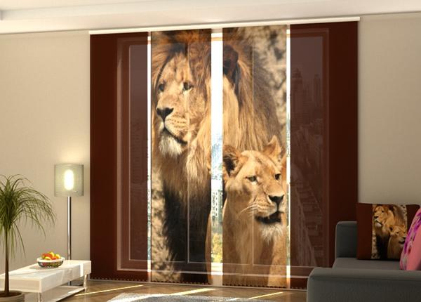 Puolipimentävä paneeliverho Lions 240x240 cm