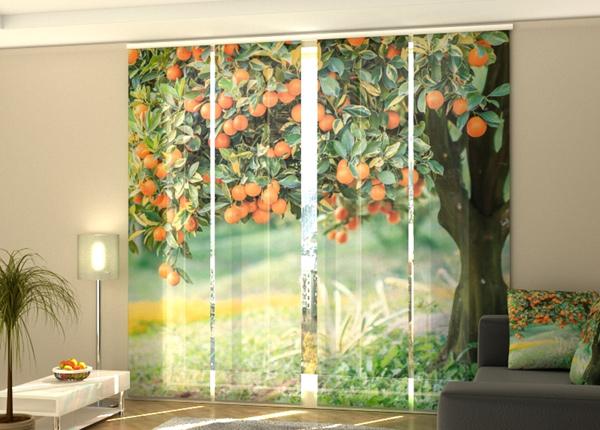 Puolipimentävä paneeliverho Mandarin tree 240x240 cm